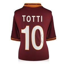 Francesco Totti Signed AS Roma 2013-14 Home Shirt Memorabilia Autographed