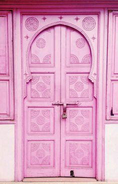 Pink door in beautiful Marrakech