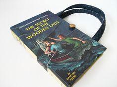 Book Purse Nancy Drew Secret of the Wooden Lady by retrograndma, $39.99