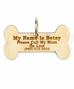 This 'I'm Lost' Personalized Pet Tag is perfect! #zulilyfinds