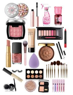 """Make up mix 👛🎀💄💋"" by taliaroyceofficial ❤ liked on Polyvore featuring beauty, Guerlain, Too Faced Cosmetics, Moschino, NYX, NARS Cosmetics, Physicians Formula, Benefit, MAC Cosmetics and Charlotte Russe"