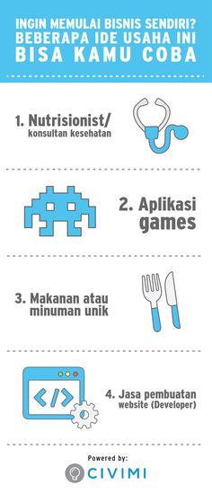 Ingin memulai bisnis sendiri? Beberapa ide usaha ini bisa kamu coba (Infographic)