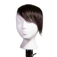 Shop for Sono Human Hair Side Swept Clip-in Bang Extensions. Get free delivery On EVERYTHING* Overstock - Your Online Beauty Products Store! Side Swept Hairstyles, Pixie Hairstyles, Cool Hairstyles, Human Wigs, 100 Human Hair, Mega Hair Tic Tac, Side Swept Bangs, Black Dark, Dark Brown