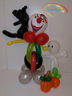 Halloween Ballonfiguren  Schminkkoppies Mariëlle Heuft