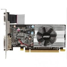 MSI Video Card R6450-MD1GD3/LP 1GB DDR3 64Bit PCI Express DVI/HDMI/VGA Retail Aluminum Core by MSI. $63.98. HDMI Support.Dual-link DVI.Display Output (Max Resolution): 2560x1600.RAMDACs: 400.DirectX Version Support: 11.OpenGL Version Support: 4.1.CrossFire Support: Y (SW).Card Dimension(mm): 145 x 69 x 18mm.Video Capture - Predator FREE bundle within Afterburner 2.10; Support real-time video capturing; Multi-thread supported.One Slot and Low Profile Design One slot thermal...