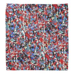 RED, WHITE AND BLUES (an abstract art design) ~ Bandana  Original paintings can be found for sale through my Amazon store at: http://www.amazon.com/shops/artmatrix or you can make direct arrangements for them through me. JMO Zazzle designs: http://www.zazzle.com/thewhippingpost?rf=238063263784323237 To help an artist, you can donate here: http://www.gofundme.com/6am6lg