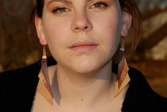 meghan cassidy: Recycled Leather Earrings