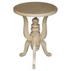 Perfect for displaying a bouquet of fresh blooms or an array of family photos, this lovely teak wood end table showcases a cinched silhouette and turned cent...
