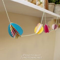 Paper Easter Egg Garland | Practically Functional