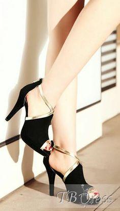 Black Peep Toe Stiletto...