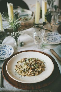 Fortunate Feast | Fall | Wild Mushroom Risotto | Image by Light and Sound Photography