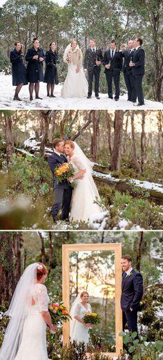 A winter wedding at Tasmania's iconic Cradle Mountain.  #winter #snow #wedding #cradlemountain #tasmania #discovertasmania Image Credit: Jon Jarvela