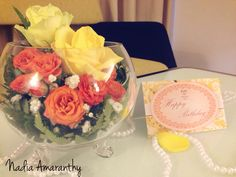 Orange yellow arrangement