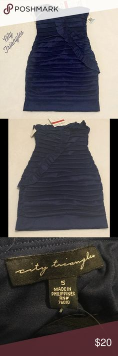 Formal midi dress size 5 dark navy new with tags I bought this dress for my daughter for homecoming formal and she ended up not going😢so I'm offering this dress at a fraction for what I paid for it.  Comes from a smoke free home.  Thank you City Triangles Dresses Midi