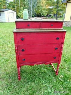 Crafty In Canada Royal Red Dresser