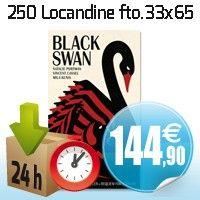250 Locandine 33x65 cm carta patinata lucida 150 gr