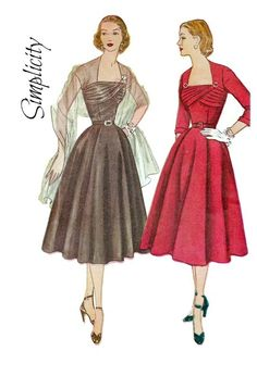 Vintage 1950s Simplicity 8437 Misses Shirred by PinkPolkaDotButton