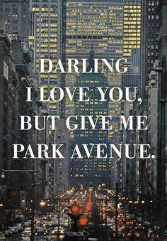 "kate-spade-and-sparkles: "" theartofivankatrump: "" Park Avenue. NYC, 1964 "" last night on Park Ave…the end of an era"