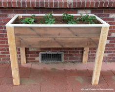 Remodelaholic   Build an Elevated Planter Box (and save your back!)