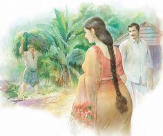 Image may contain: 2 people, baby and closeup - Babieslive Indian Women Painting, Indian Art Paintings, Sexy Painting, Woman Painting, Indian Drawing, Romance Art, Hindu Art, Beauty Art, Beauty Women