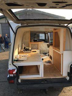 15 Custom Sprinter Van Conversion – Famous Last Words Mini Camper, Bus Camper, Camper Life, Mini Caravan, Sprinter Van Conversion, Camper Van Conversion Diy, Mini Van, Caravan Decor, Kombi Home
