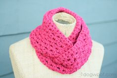 One Dog Woof: End of Winter Double Strand Infinity Cowl ~free pattern