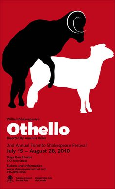 """Iago refers to Othello as """"an old black ram"""" who  """"Is tupping [Brabantio's] white ewe"""" Through this use of animal imagery, Iago suggests that Othello is dirty and filthy. The words """"old"""" and """"black"""" implies that he does not deserve a young pretty woman like Desdemona. This also alludes to the theme of racism in the play."""