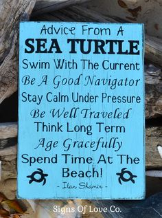 Sea Turtle Beach Decor - Rustic Wooden Beach Sign - Advice From A Sea Turtle - Wisdom From Lessons Beach Rules Sea Turtle Art Quote Sea Turtle Decor, Sea Turtle Art, Turtle Beach, Sea Turtles, Beach Signs Wooden, Rustic Wood Signs, Blue Bathroom Paint, Beach Rules, Nautical Wall Art