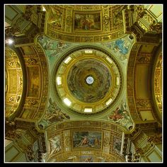 Sant Andrea Della Valle    Sant Andrea Della Valle has the largest dome in Rome after St. Peter's in the Vatican. The dome was built by Carlo Maderno around 1622 and is frescoed by Giovanni Lanfranco.