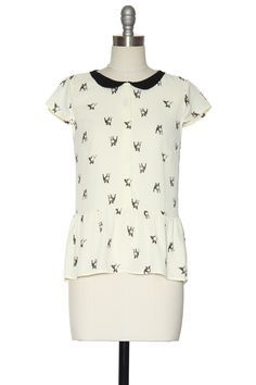 Doggy Dolly Top | Vintage, Retro, Indie Style Tops http://www.laceaffair.com/doggy-dolly-top/