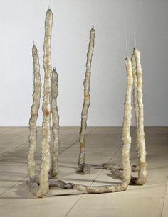 Eva Hesse - Untitled (Seven Poles), 1970 Eva Hesse, Abstract Sculpture, Sculpture Art, Robert Morris, Women Artist, Giuseppe Penone, Centre Pompidou, Digital Museum, Plastic Art