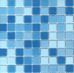 Brio Blend Cool Pool - Blue Glass Mosaic Tile