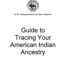 Tracing your Native American Ancestry