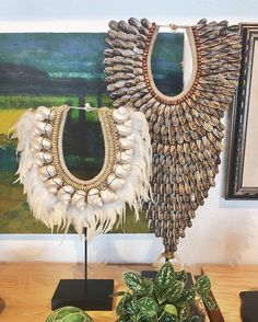 New Indonesian #tribal necklaces just arrived at #DACHA! Stunning displayed on a stand, the wall or, for the truly bold, around the neck. #jewelry  #art #dachainteriors #gohome