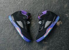"O Canada.  The Nike Air Jordan 5 Retro ""Raptors"" is available at kickbackzny.com."