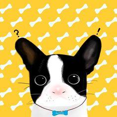 #프렌치불독 #frenchbulldog #일러스트 #illust #illustration #멍스타그램 #패턴 #pattern