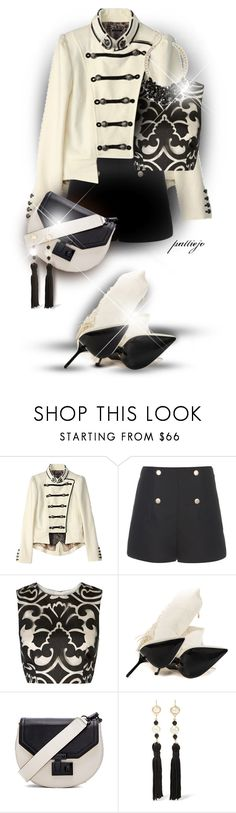 """Bang a Drum"" by rockreborn ❤ liked on Polyvore featuring Balenciaga, Keepsake the Label, Lust For Life, Rebecca Minkoff, Kenneth Jay Lane and Talbots"