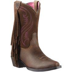 Ariat Girl's Fancy Fringe Western Boots