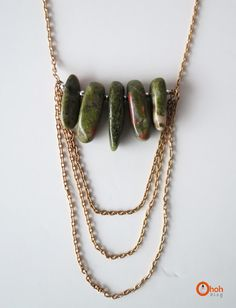 Ohoh Blog - diy and crafts: DIY stone beads necklace