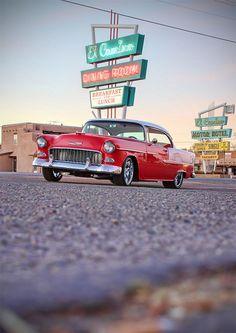 '55 Chev Belair Hardtop! Not my favorite color but still a good car
