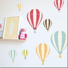 hot air balloon graphic wallpaper