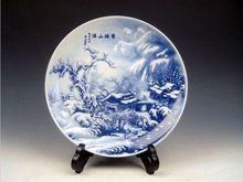 Gorgeous Jingdezhen azul y blanco de porcelana un sueño de mansiones rojas plato grande(China (Mainland))