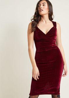 Vintage Inspired Cocktail Dresses, Party Dresses Velvet Dress in Merlot Red