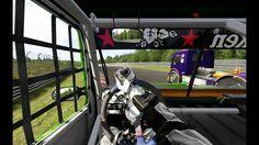 Racing Onboard Mercedes-Benz L-Series vs Volvo FH Formula Truck at Nurbu...