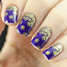 Copycat Claws: Orly On The Edge with Gold Stamping