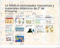 """""""12 actividades interactivas y materiales didácticos sobre LA FAMILIA en 2º de Primaria"""" Bullet Journal, Socialism, Science Area, Interactive Activities, Teaching Resources"""