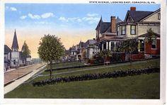 Coraopolis, PA - State Avenue, Looking East