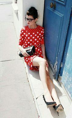 Red n polka.. my favourite kind