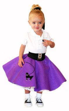 50's Poodle Skirt RED - TODDLER size 1-2-3. $13.99, via Etsy.