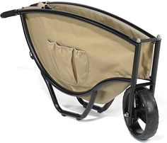 Folding Wheelbarrow -- When there's no room to spare in the garage or shed for wheelbarrow, opt for something that folds. Designed to fold up when not in use, the Folding Wheelbarrow from Hammacher and Schlemmer offers all the functionality of a standard wheelbarrow without the storage issue.